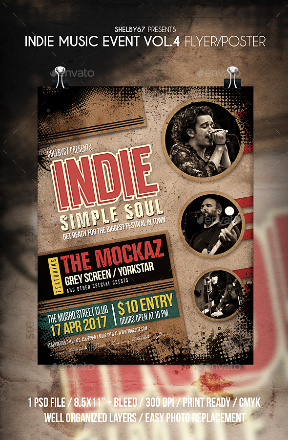 Indie Music Event Flyer / Poster Vol 4 - Events Flyers