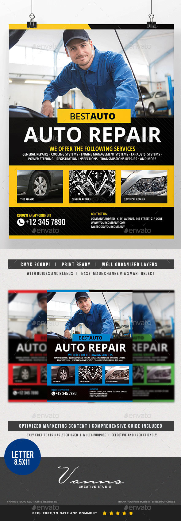 Car Fix Service Flyer - Commerce Flyers