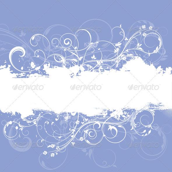 Floral Grunge Background - Backgrounds Decorative