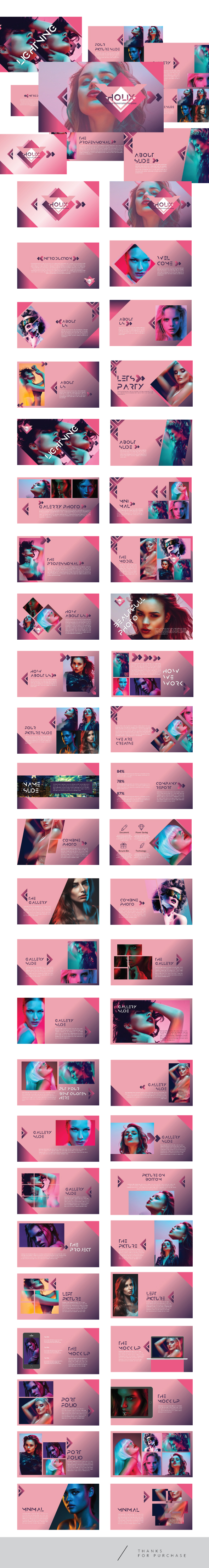 Holix - Multipurpose Keynote Template - Creative Keynote Templates