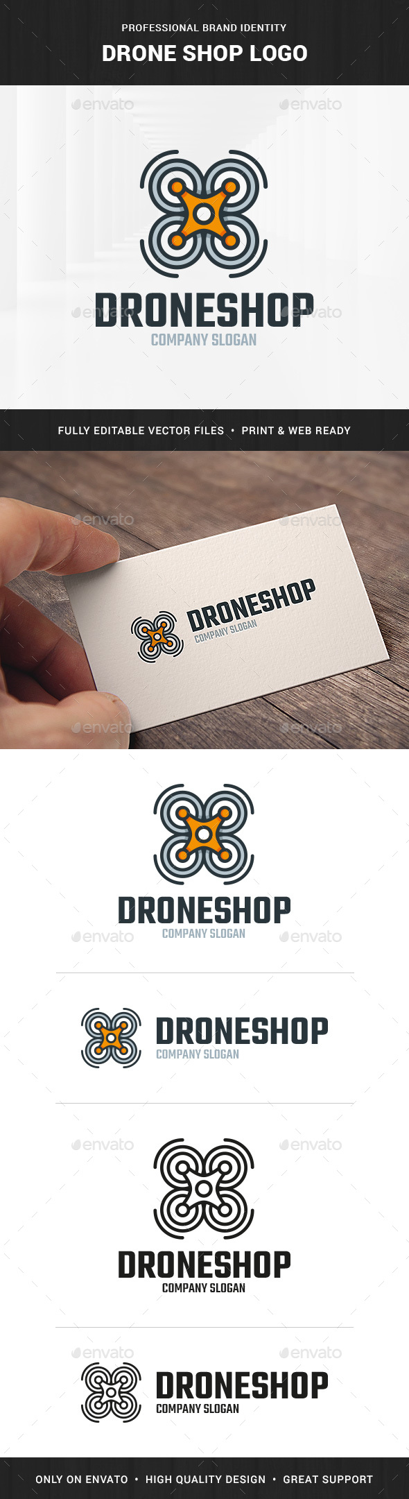 Drone Shop Logo Template - Objects Logo Templates