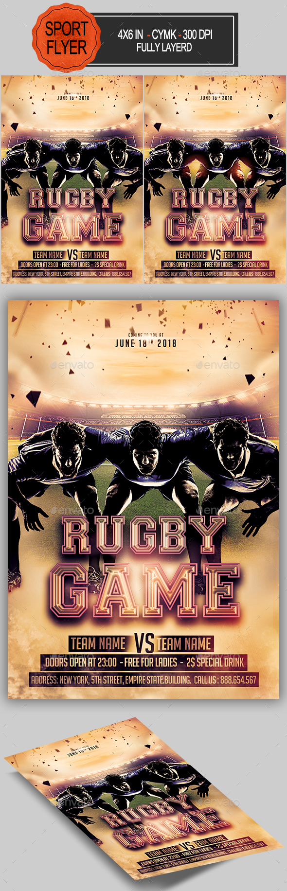 Rugby Game Flyer - Sports Events