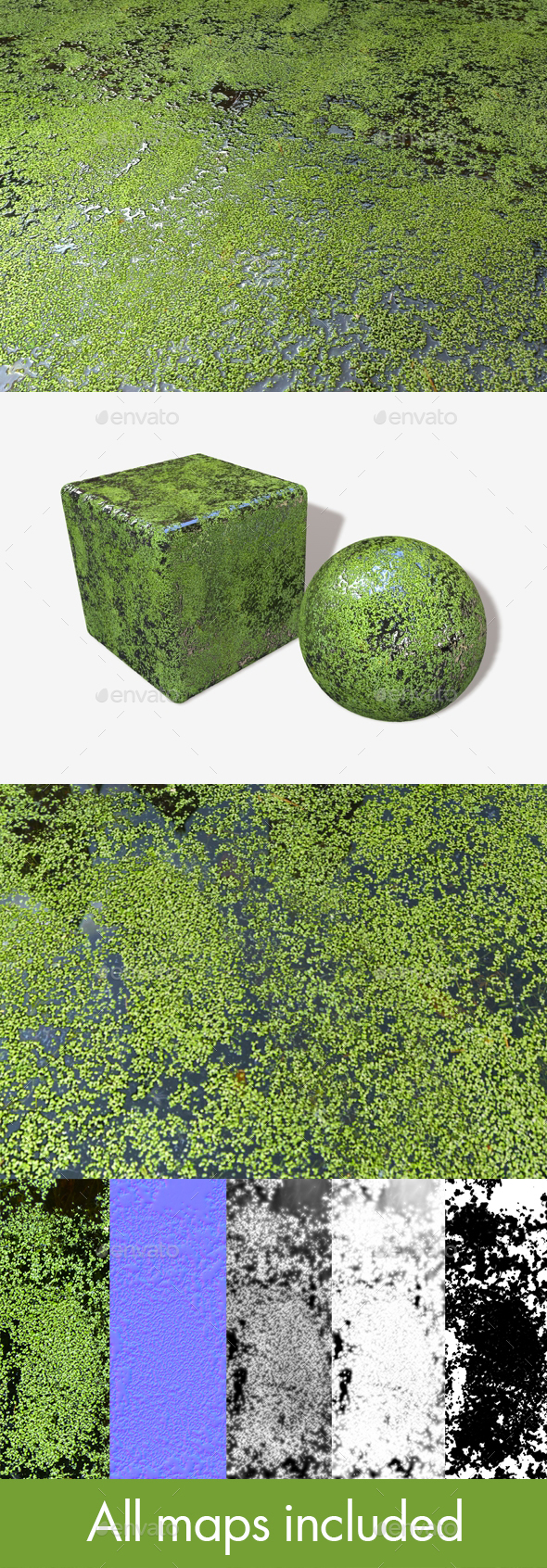 Pond Seamless Texture - 3DOcean Item for Sale