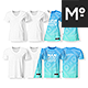 Crew-, O-, V-neck Women & Men Ghost T-shirts Mock-up - GraphicRiver Item for Sale