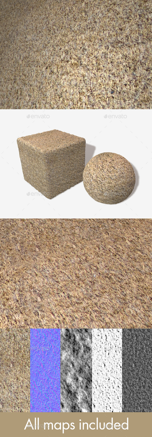 Thatched Roof Seamless Texture - 3DOcean Item for Sale