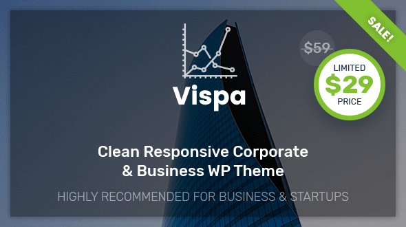 Vispa for Startups – Responsive Corporate & Business WordPress Theme