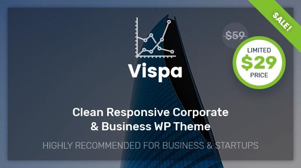 Vispa for Startups – Responsive Corporate & Business WordPress Theme
