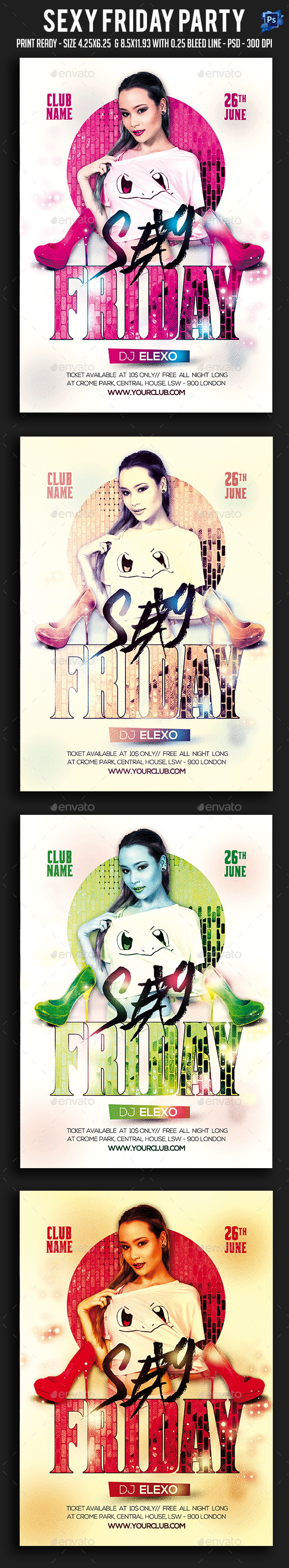 Sexy Friday Party Flyer - Clubs & Parties Events