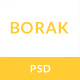 BORAK Material Design Business PSD Template - ThemeForest Item for Sale