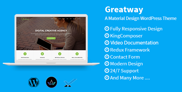 Greatway - Material Design WordPress Theme - Technology WordPress