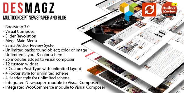 DesMagz - WordPress Multiconcept Magazine Theme - Blog / Magazine WordPress