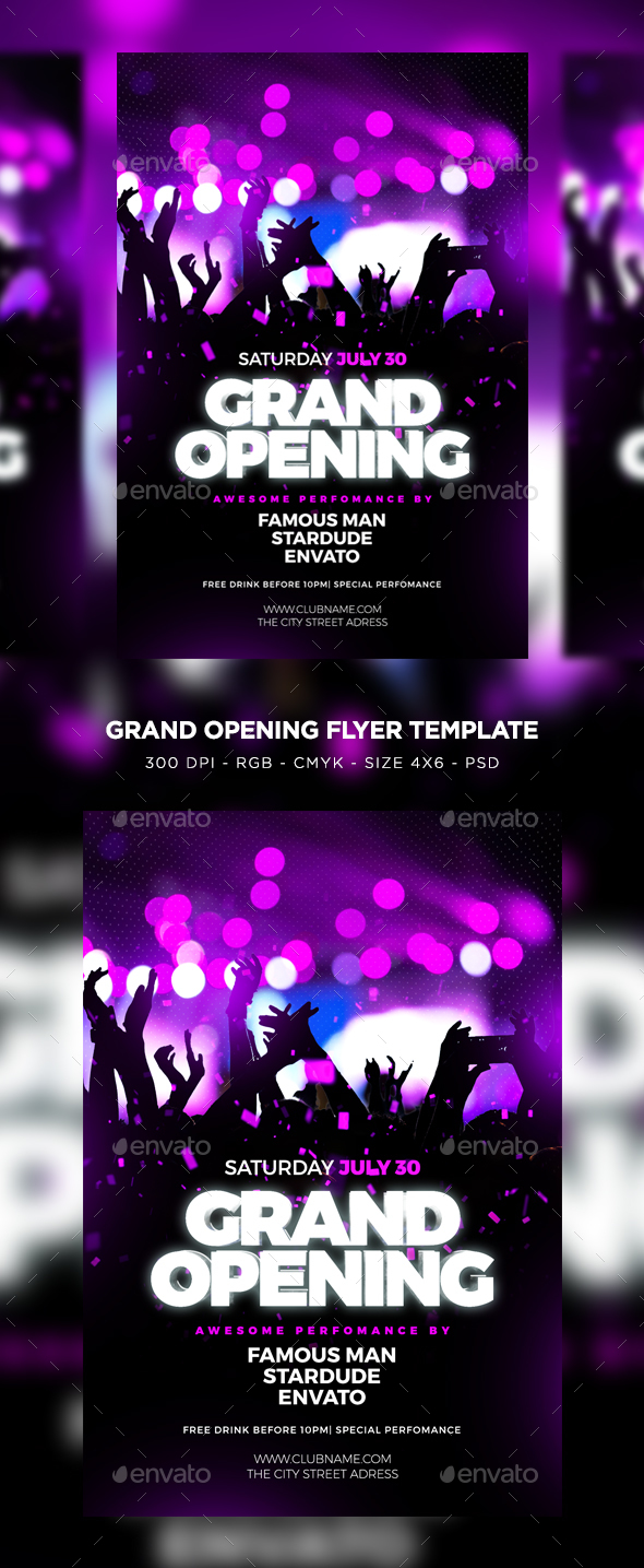 grand opening flyer by maksn graphicriver. Black Bedroom Furniture Sets. Home Design Ideas