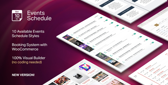 Events Schedule - WordPress Plugin - CodeCanyon Item for Sale