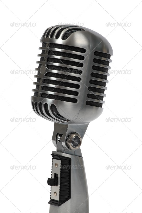 Retro microphone - Stock Photo - Images