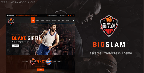 Big Slam - Basketball WordPress Theme - Nonprofit WordPress