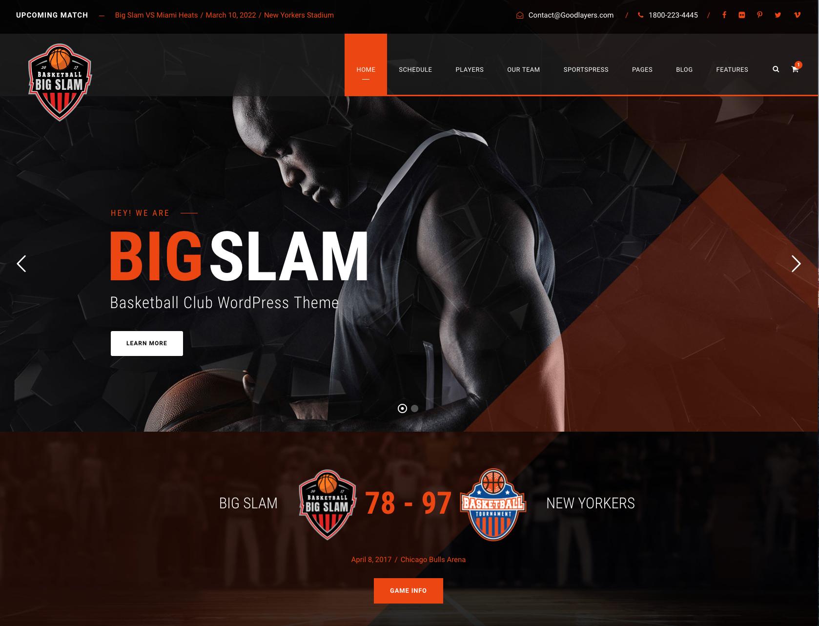 Big Slam WordPress Theme