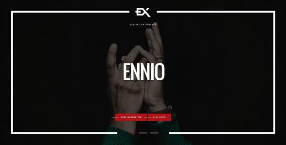 Ennio || Creative Portfolio Template - Portfolio Creative