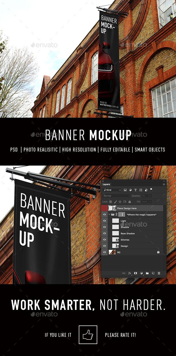 Smart Banner Mockup - Signage Print