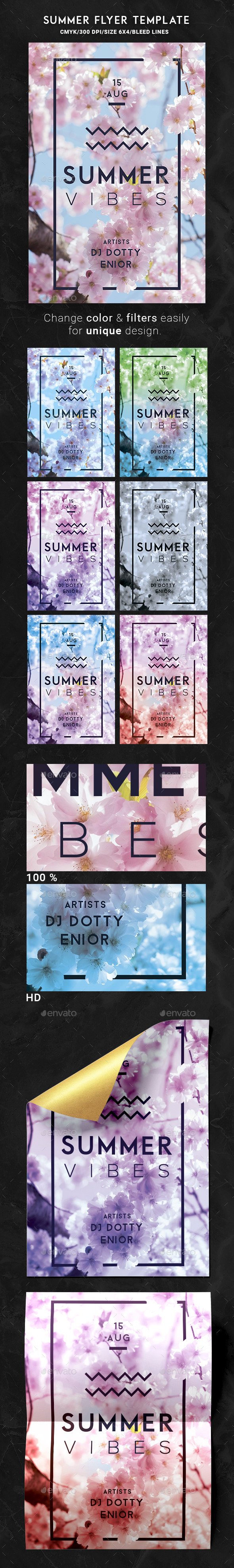 Summer Flyer Template - Holidays Events