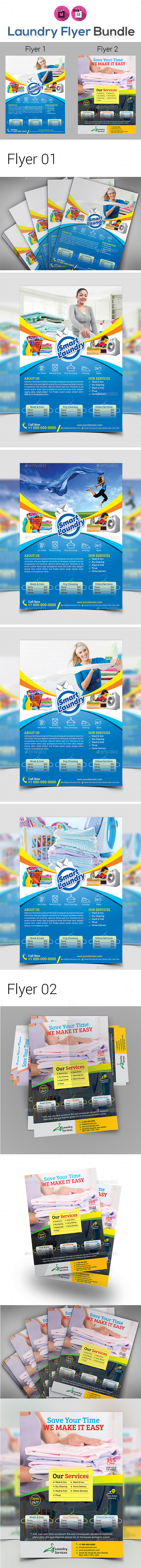 Laundry & Dry Cleaning Services Flyer - Commerce Flyers