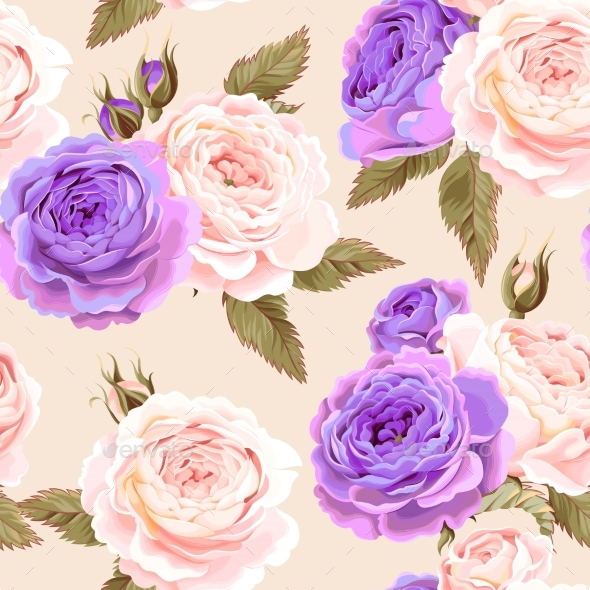 English Roses Seamless - Backgrounds Decorative