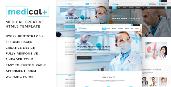 Medical – Health Care, Clinic HTML5 Template