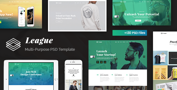 League – Responsive Business Multi-Purpose PSD Template