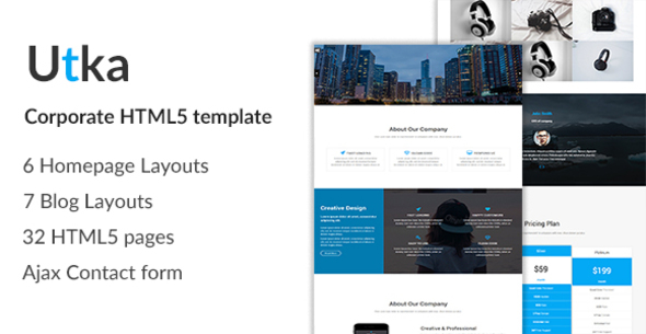 Utka – Corporate HTML5 Template
