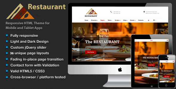 The Restaurant – Shop Cafe & Food HTML5 Template
