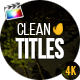 Gold Clean Titles For Final Cut Pro X - VideoHive Item for Sale