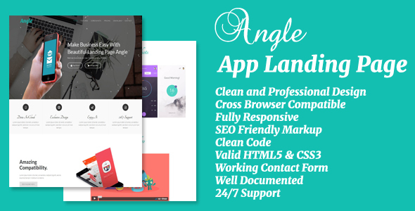 Angle – App Landing Page