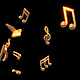 Musical Notes Flying - VideoHive Item for Sale