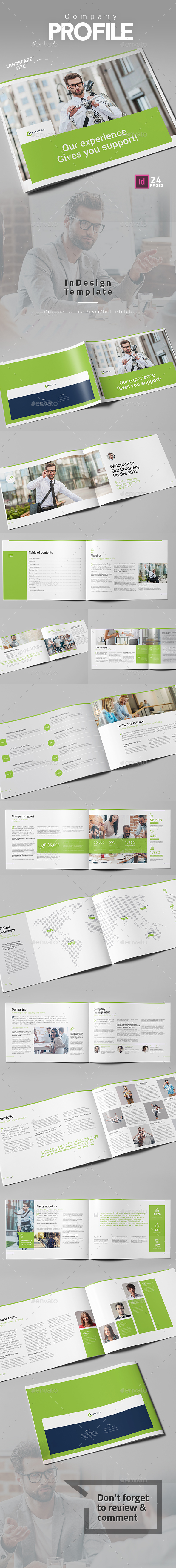Company Profile Vol.2 Landscape - Corporate Brochures