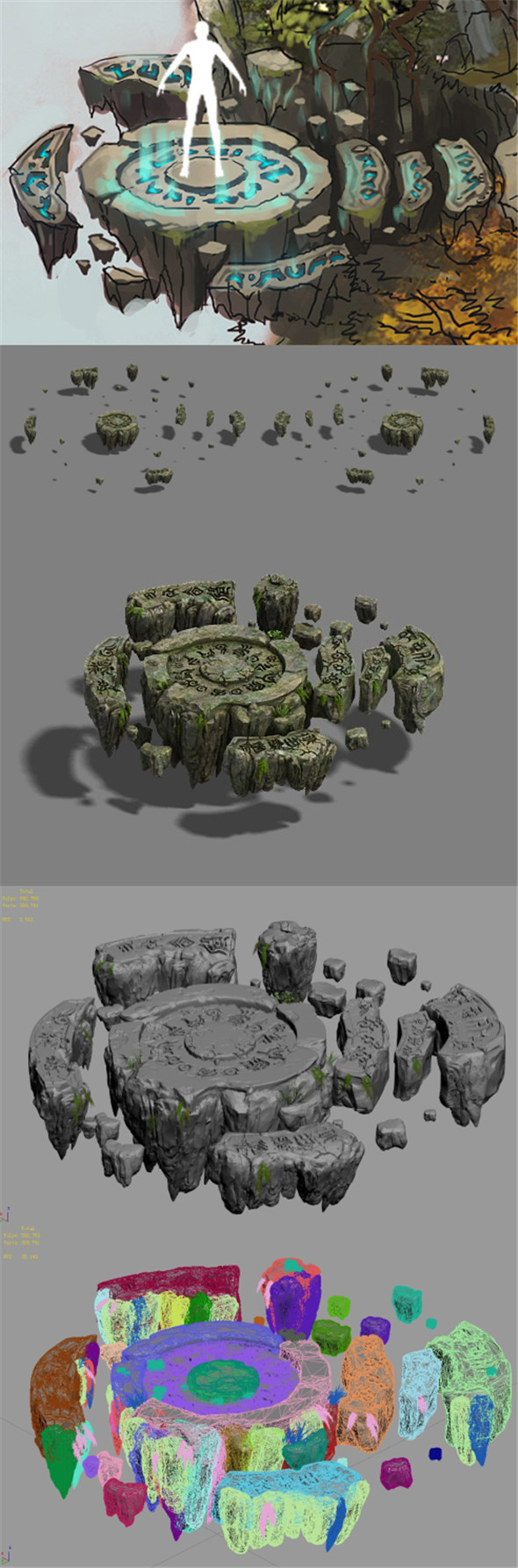 Field - stone altar - 3DOcean Item for Sale