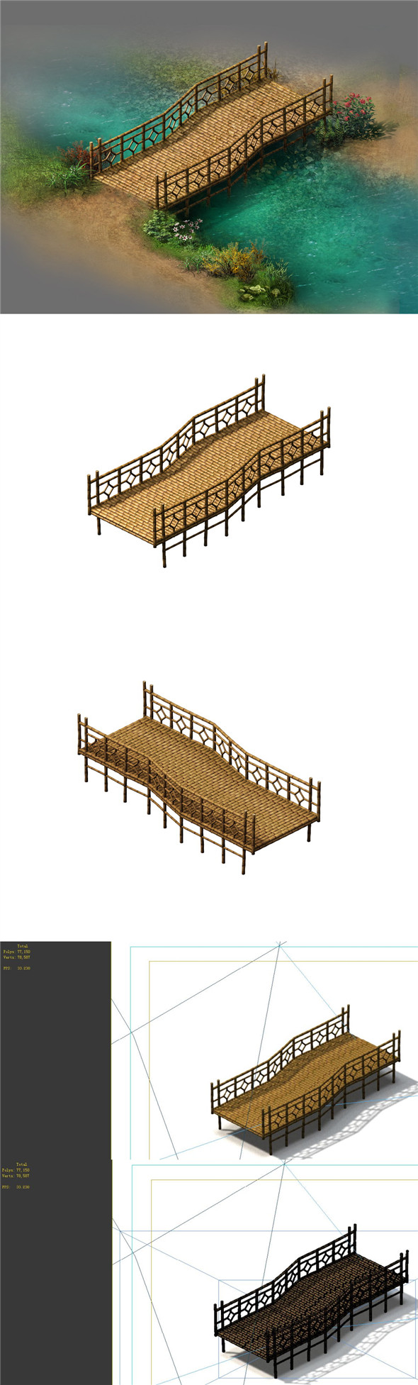 Field - Bamboo Bridge - 3DOcean Item for Sale