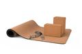 Yoga Cork Mat Set Non slip Eco Friendly on White Background