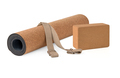 Yoga Cork Mat, Block and Strap Eco Friendly Set