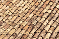 Old shingles on a roof in Sicily