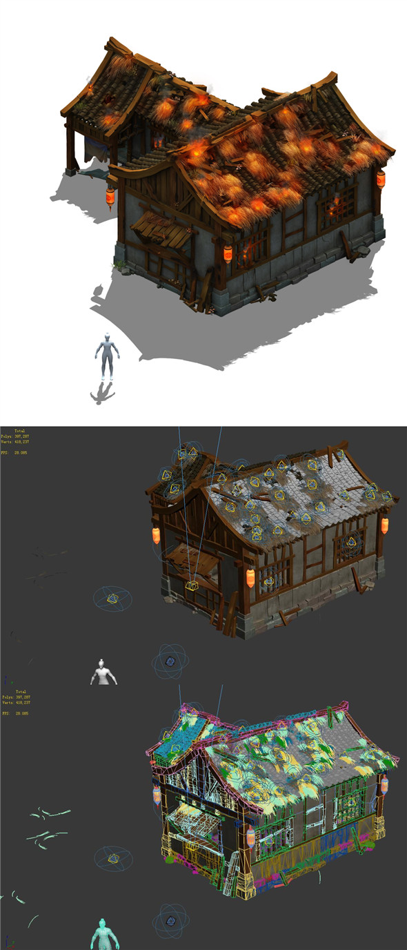 Field - Zhuojun small houses - 3DOcean Item for Sale