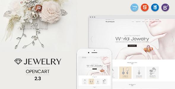 Jewelry – Responsive Opencart 2.3 Theme