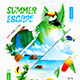 Summer Escape Party Flyer vol.6 - GraphicRiver Item for Sale