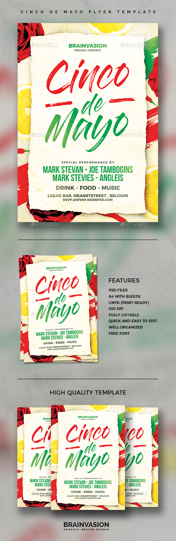 Cinco De Mayo Flyer Template Vol.02 - Holidays Events