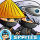 Ninja Game Sprites Set - GraphicRiver Item for Sale