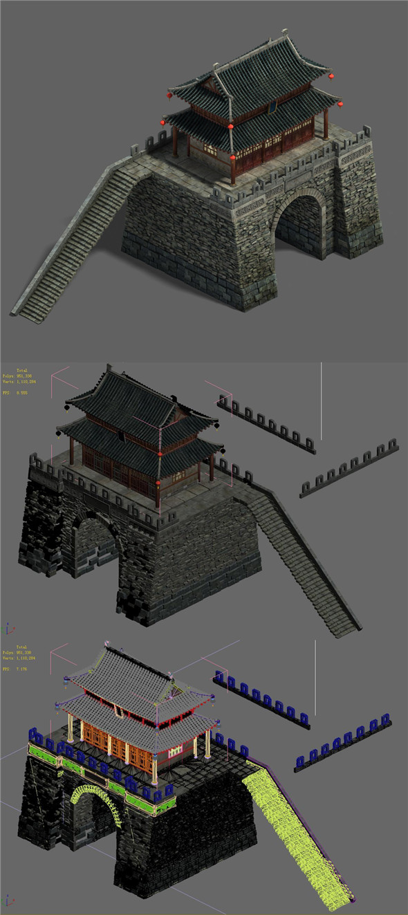 Medium city - city gate - 3DOcean Item for Sale