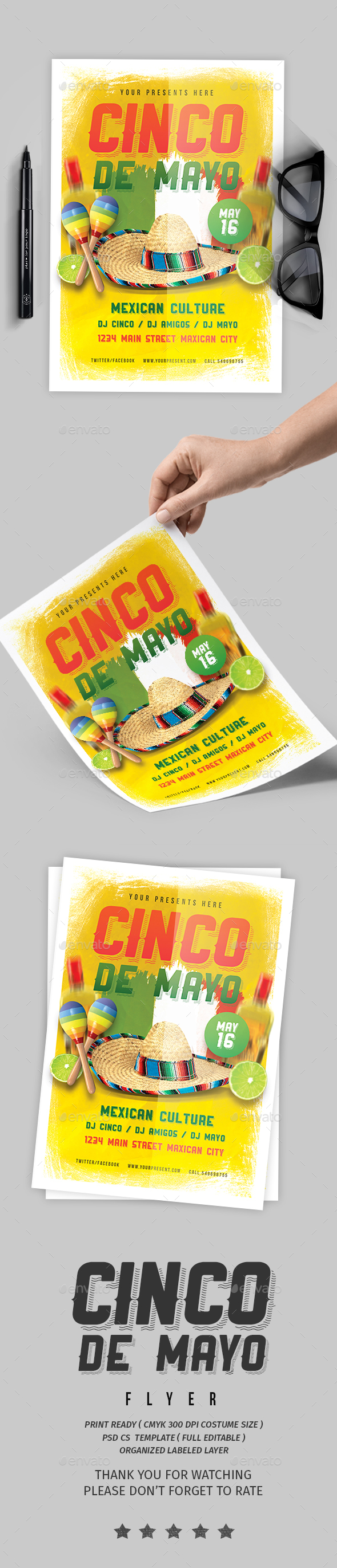 Cinco de Mayo vol.3 - Events Flyers