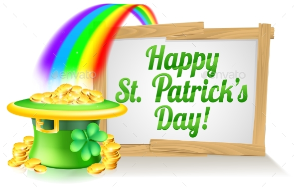 Happy St Patricks Day Sign - Miscellaneous Vectors