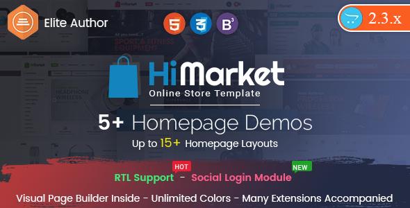 HiMarket – Drap & Drop OpenCart 2.3 Theme