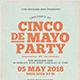 Cinco De Mayo Typography Flyer