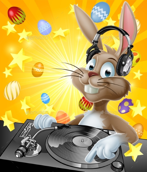 Easter Bunny DJ - Animals Characters