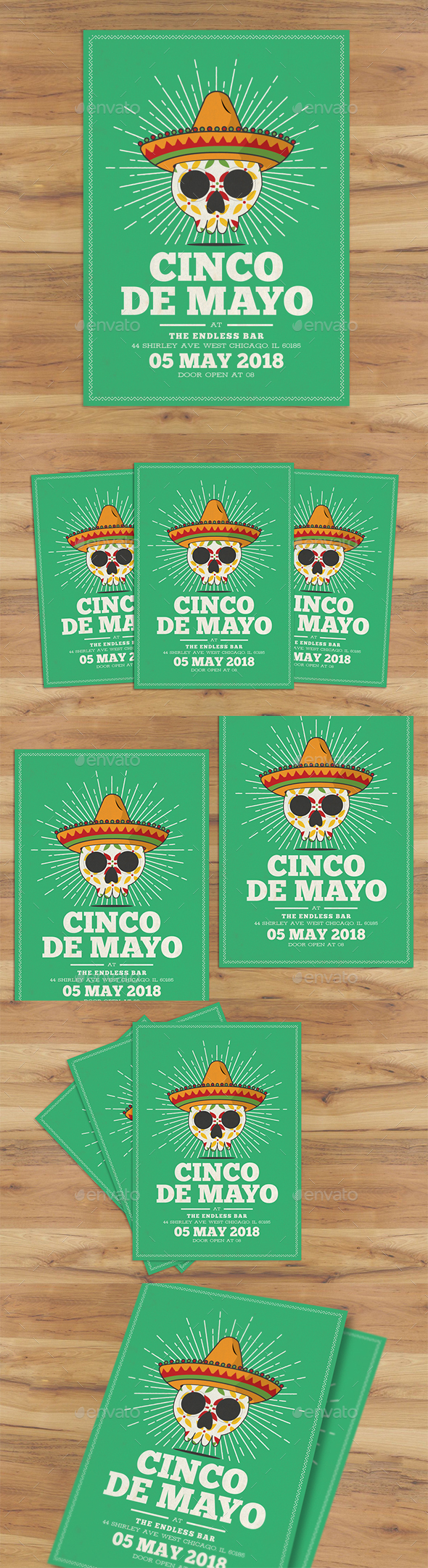 Cinco De Mayo Flyer - Holidays Events